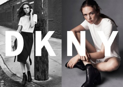 Behind the scenes of the DKNY spring '16 ad campaign.